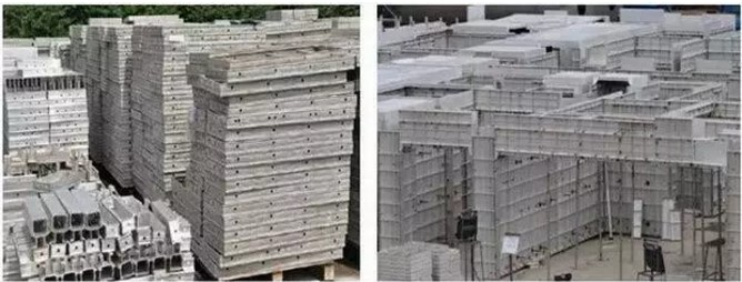 铝模板施工现场