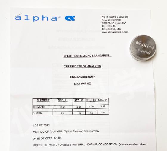 锡合金NF 60-4