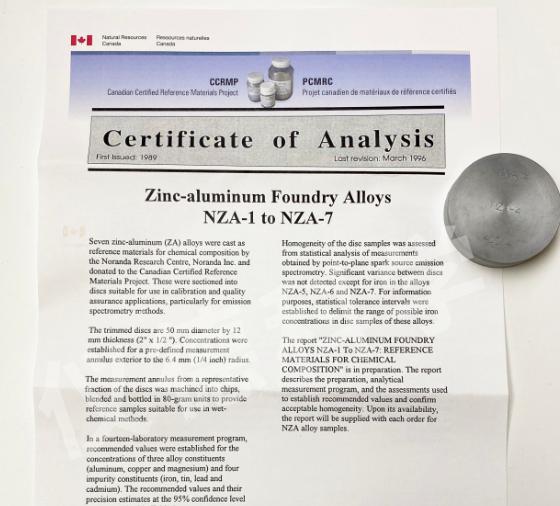锌合金CAN NZA-4
