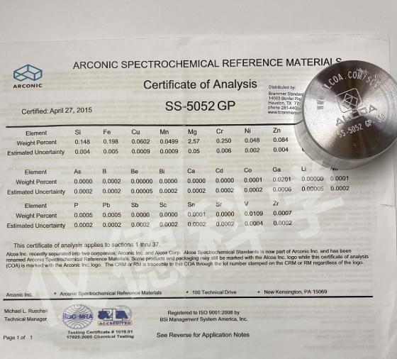 铝合金AA SS-5052